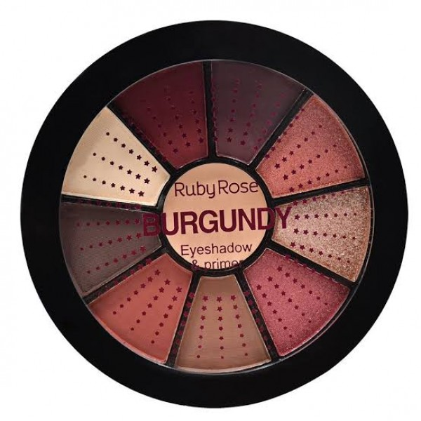 Mini Paleta De Sombras Burgundy - HB 9986-9 - Ruby Rose