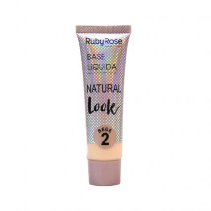 Base L铆quida Natural Look Bege 2 - Ruby Rose