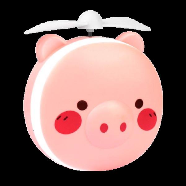Espelho Led Maquiagem Portátil Ventilador Cute Rosa Kpop