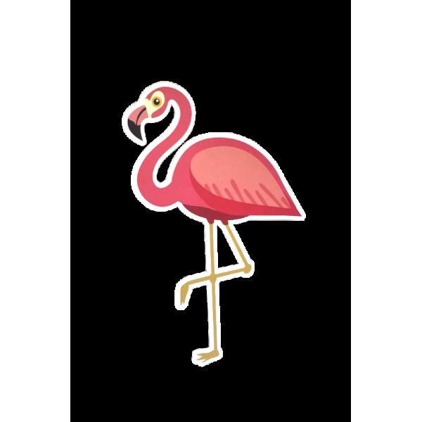Placa Decorativa em formato de Flamingo