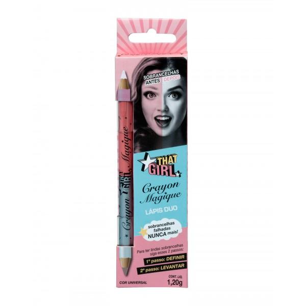 Lápis Duo para Sobrancelha Crayon Magique That Girl 1,2g