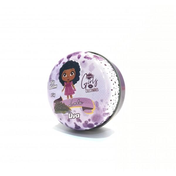 Lip Balm Girls Colecionáveis Phállebeauty - Uva