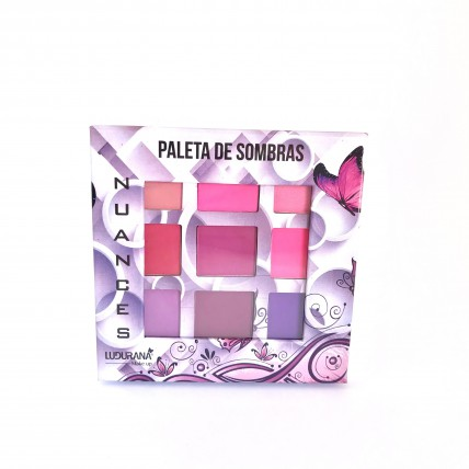 Paleta de sombras Nuances - Lil谩s - Ludurana
