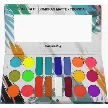 Paleta de sombras 20 cores Tropical - Ludurana